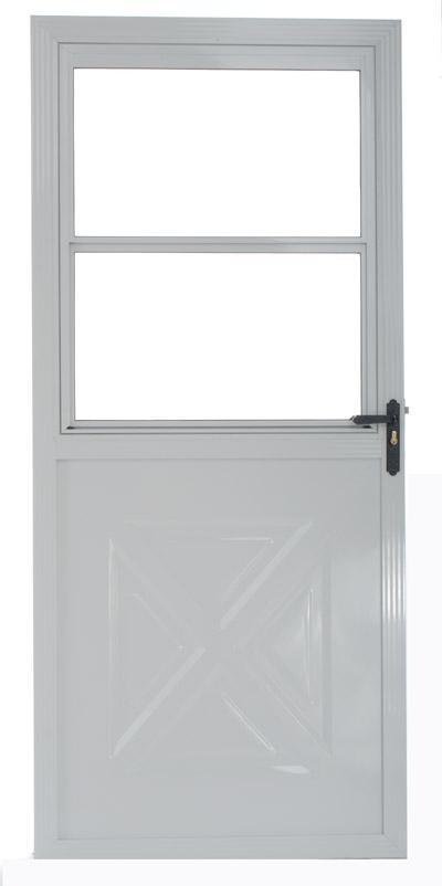 Crossbuck storm door with screen for 9 lite crossbuck exterior door
