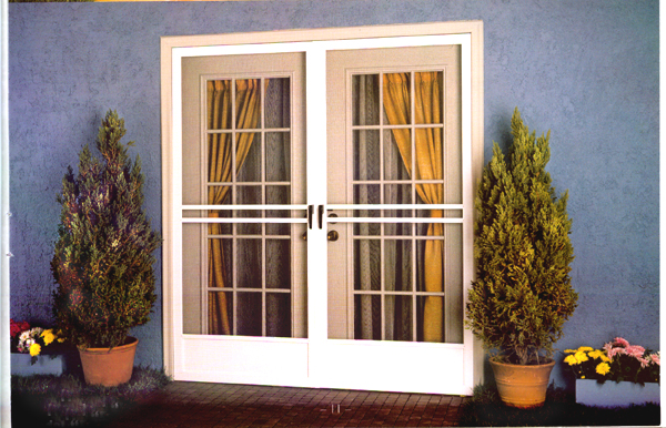 Door security french door security screens for Security screen doors for french doors