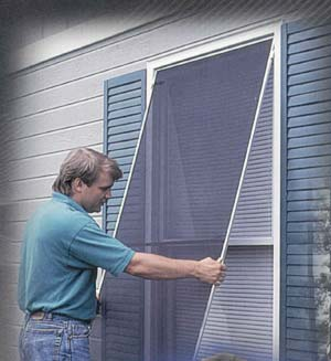 Solar window screening mobile screen repair screen door repair replace windows screens sliding for Exterior solar screens for windows